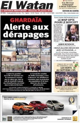 Affrontements inter-communautaires  (presse algérienne) | L'Algérie et la France | Scoop.it