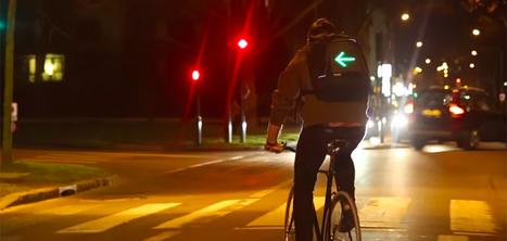 Un sac à dos pour cyclistes qui intègre des clignotants | Transports Alternatifs et Éco-Mobilité | Scoop.it