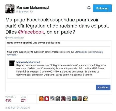 Sur Facebook, les militant·e·s antiracistes victimes de censure   La Quadrature du Net   Graînes de docs   Scoop.it