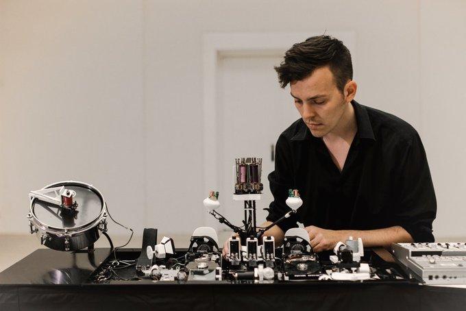 Sonic Robots by Moritz Simon Geist | Automated Music Robots, Elektro Mechanical instruments & Sound Installation