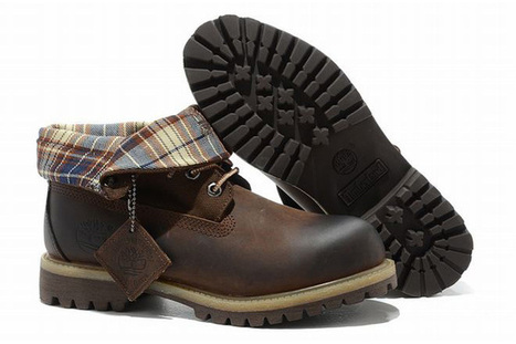 timberland mens roll top brown boots with printing surface | popular and new list | Scoop.it
