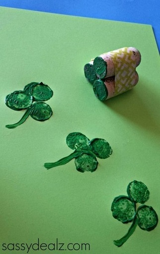 Wine Cork Shamrock Stamp | Craftspo | Scoop.it