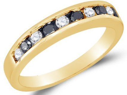 Size 7 - 10K Yellow Gold Channel Set Round Brilliant Cut... | Jewelry Mall | Scoop.it