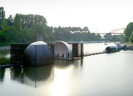 mobile domed bridge splits in half to form both separate and shared spaces | What's new in Design + Architecture? | Scoop.it