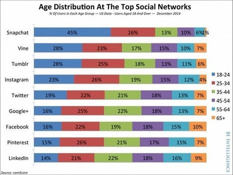 [Infographie] Les réseaux sociaux les plus populaires selon les tranches d'âge | Internet world | Scoop.it