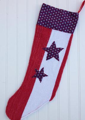 Albert - Patriotic Christmas stocking | Vintage Christmas stockings | Scoop.it