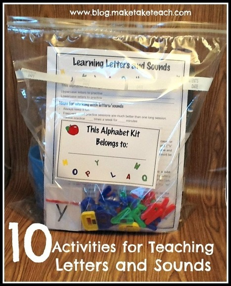 10 Activities for Teaching and Practicing Letters and Sounds   Make, Take & Teach   Sight Words teaching and Learning Games   Scoop.it