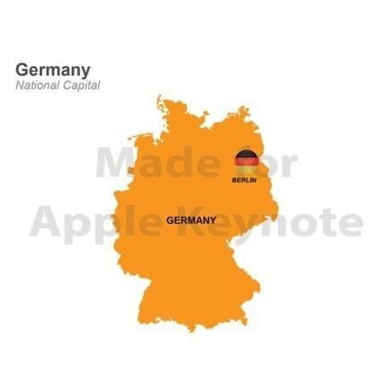 Germany Map for Sale $26.99 | Apple Keynote Slides For Sale | Scoop.it