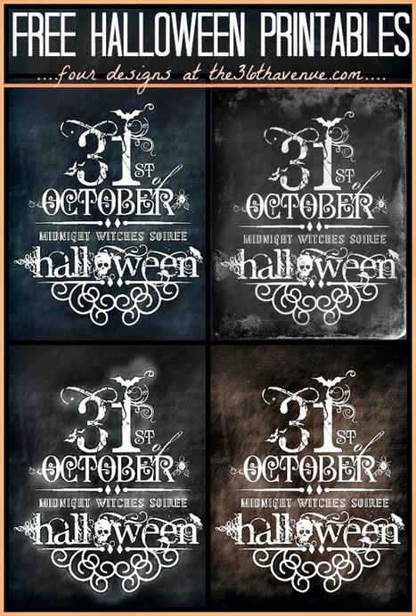 12 Halloween Free Printables | Halloween | Scoop.it