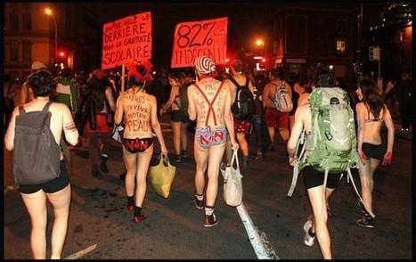Les étudiants québécois nus dans la rue contre la hausse des frais de scolarité | L'enseignement dans tous ses états. | Scoop.it