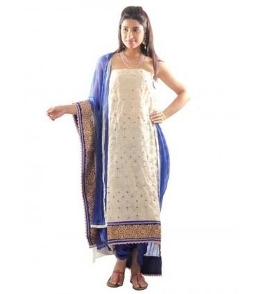 Beige Thread Jaal Suit Material | Buy Online @Rs.1,999 on UPTOWN | Women Western,Ethnic Wear, Dresses, Tops, Skirts, Kurtis, Leggings with Best Deals- UPTOWNGALERIA | Scoop.it