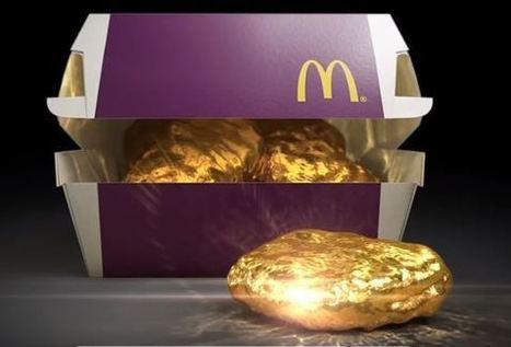 McDonald's vous propose de gagner un nugget en or | Restauration, quand le digital relève le plat... et crée le trafic. | Scoop.it