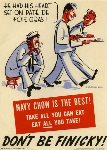 U.S. Navy Food Posters, 1939-1945 | History IB | Scoop.it