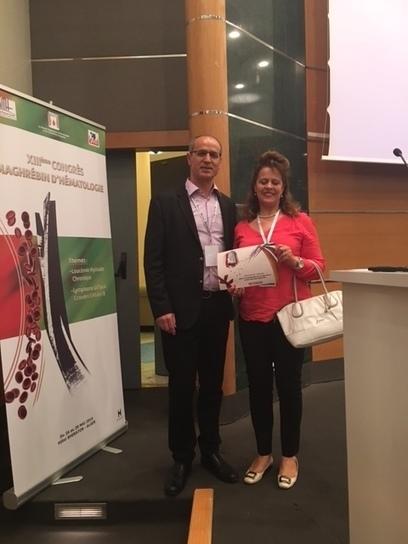 L'équipe du Pr Ag. Samia Menif Marrakchi obtient le prix de la meilleure communication lors du XIIIème congrès Maghrébin d'Hématologie (26-28 mai 2016) | Institut Pasteur de Tunis-معهد باستور تونس | Scoop.it
