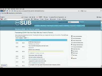 How to translate a video on dotSUB | Amara | Learning technologies for EFL | Scoop.it