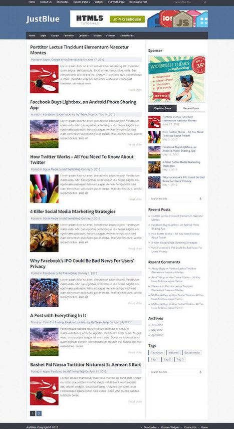 JustBlue, Free Responsive Blog WordPress Theme   Free WordPress Themes VR   Scoop.it