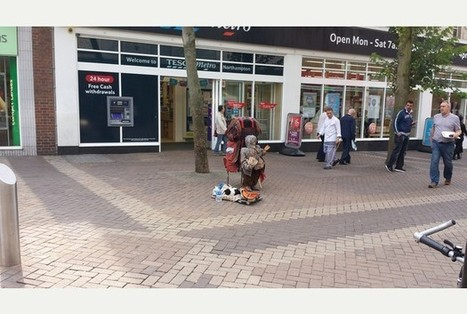 VIDEO: Shoppers amazed as they realise old man busking in Northampton town centre is actually a PUPPET | SILLY STREET | Scoop.it