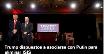 CNA: ¿ Quién es el LOCO? TRUMP dispuesto a unirse a PUTIN para eliminar a ISIS mientras CLINTON busca seguir escalada militar | La R-Evolución de ARMAK | Scoop.it