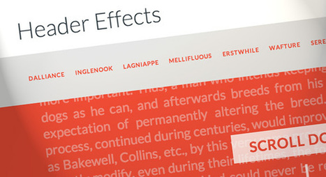 On Scroll Header Effects | Webdesign & Graphics | Scoop.it