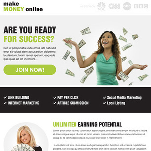 Buy Make money online clean responsive landing page design your business conversion | get on top of google | Scoop.it