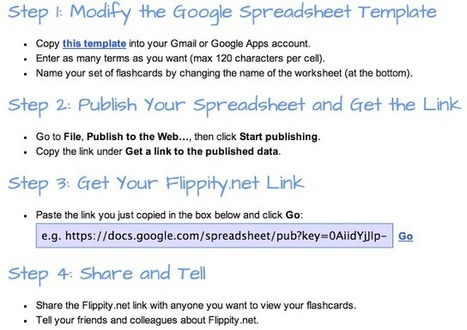 Easily Generate Flashcards from Google Spreadsheets ... | eclectic technology | Scoop.it