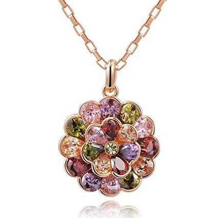 "Christmas Gifts Ninabox® ""Party Queen"" Rose Gold Plated Fashion Women Pendant Necklace 