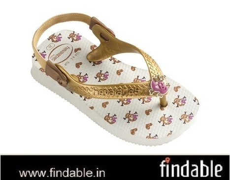 Buy Baby Chic White/Golden Rubber Footwear | Fashion Accessories | Scoop.it