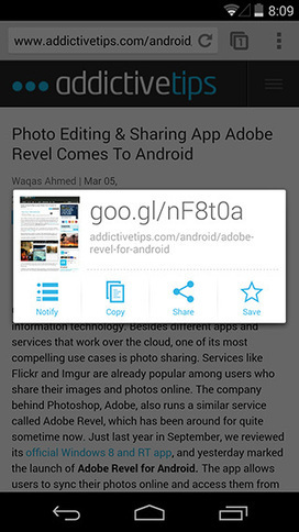 Google URL Shortener Is A Great Unofficial Goo.gl Android Client | Time to Learn | Scoop.it