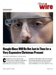 7 Healthcare Ideas for Google Glasses | Healthcare Incubators, Accelerators and Startups | Scoop.it