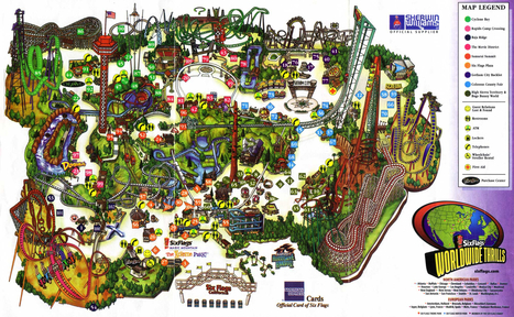 Map of Six Flags | Special Purpose Maps | Scoop.it