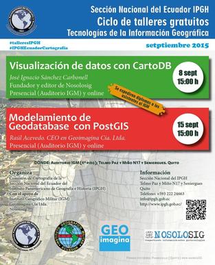 Nosolosig continúa colaborando con el ciclo de seminarios gratuitos del IPGH Ecuador sobre Geotecnologías