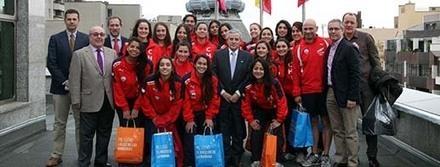 El alcalde de León recibe a la Selección Nacional Chilena de balonmano femenino | Balonfemme | Scoop.it