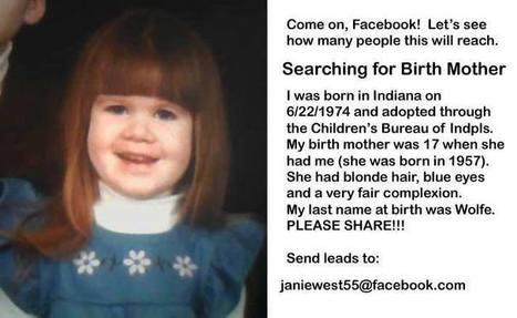 Nicole Coldren - Timeline Photos | Facebook | help me find my birth relatives | Scoop.it
