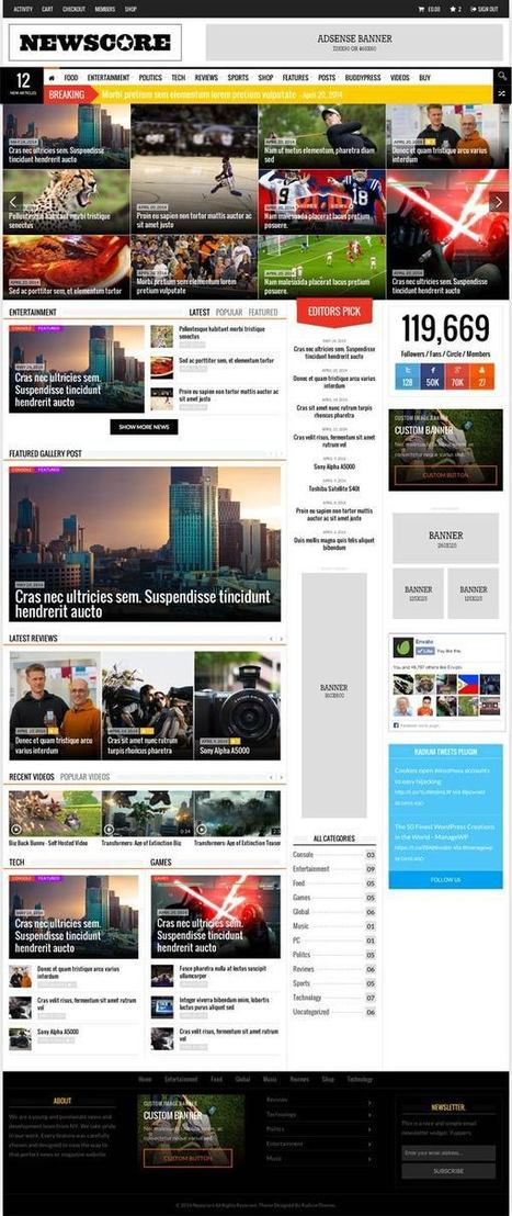 NewsCore Magazine & News Wordpress Theme - ServerThemes.Net | Download Premium WordPress Themes | Scoop.it