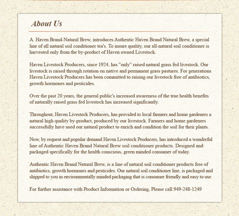 Authentic Haven Brand Natural Brew   Annie Haven   Haven Brand   Scoop.it
