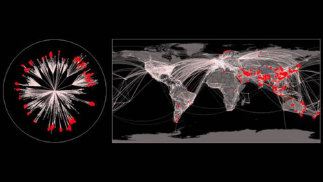 How would a pandemic spread through our air transportation routes? | Geography | Scoop.it