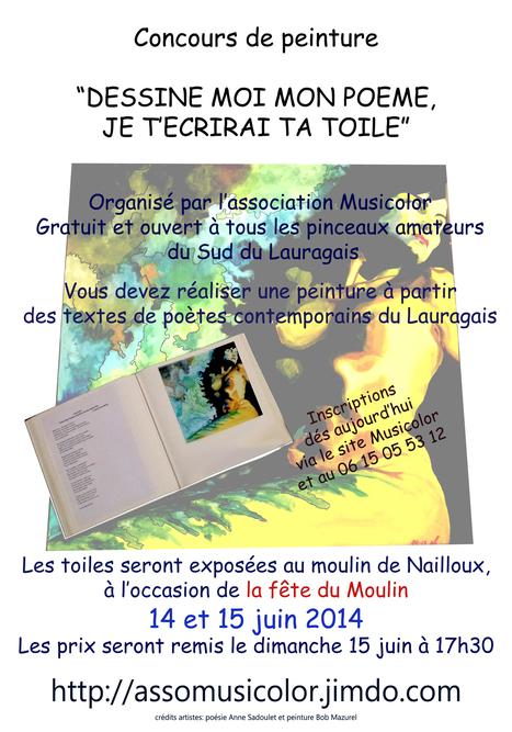 Musicolor : Dessine-moi mon poème, je t'écrirai ta toile – 14 et 15 juin 2014   Musicolor   Scoop.it