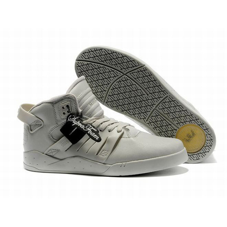 Men Size Supra Footwear Skytop III White and Grey | new and share list | Scoop.it