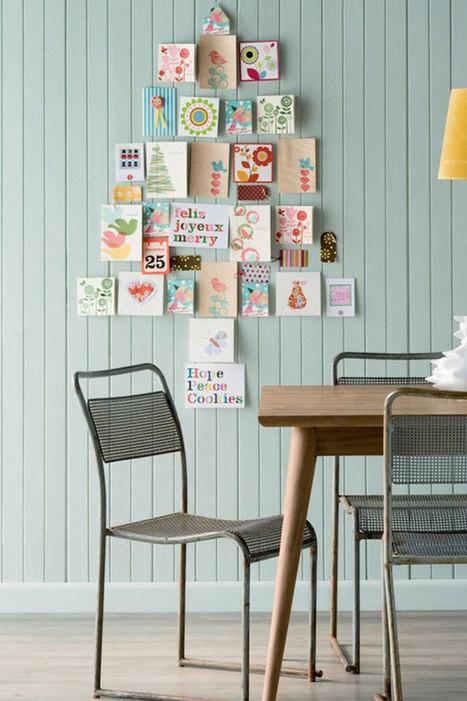 Árboles de navidad en la pared. Para cuando no hay espacio   Mil Ideas de Decoración   Decoración de interiores   Scoop.it