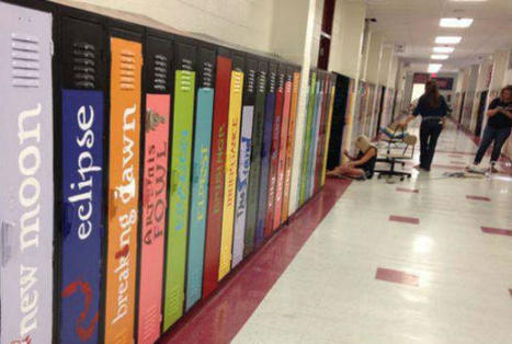 Teachers Transform Lockers into Book Spines | School Libraries and the importance of remaining current. | Scoop.it