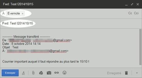 Placer un rappel sur un mail grâce à Evernote | Le Newbie | 2-Le numérique à l'école | Scoop.it