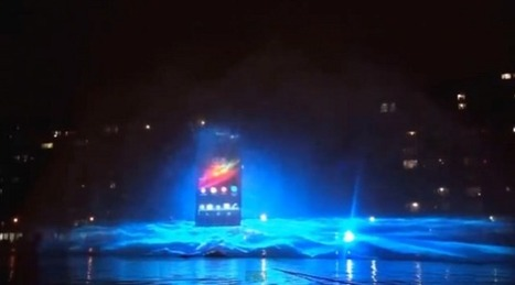 Here is the impressive water show of the Sony Xperia Z in Paris   Digital Life Plus   Coming Startup and Technologies   Scoop.it