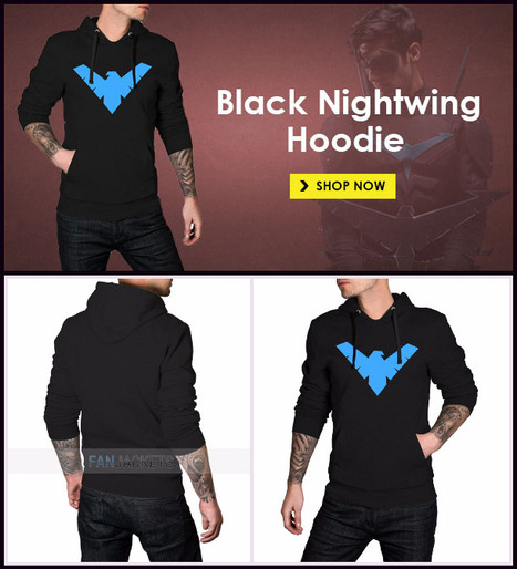 Nightwing Hoodie Black | Mens Celebrity Fashion Jackets, Coat and Suits | Scoop.it