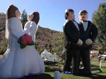 Palm Springs Launches New Destination Gay Wedding Website | Gay Palm Springs | Scoop.it