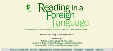 Reading in a Foreign Language (RFL) | Teaching L2 Reading | Scoop.it