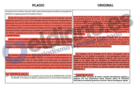 El rector de la Universidad Rey Juan Carlos plagió también la tesis doctoral de una alumna en 2008 | Comunicação Científica | Scoop.it