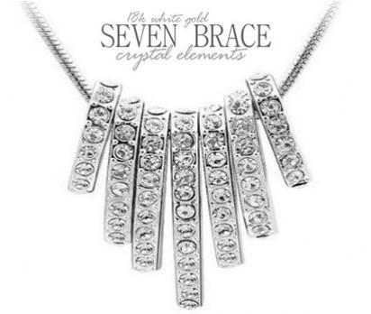 18K White Gold Plated Seven Brace Crystal Elements Necklace on ikOala Jewellery Deals | Daily Deals Online | Scoop.it