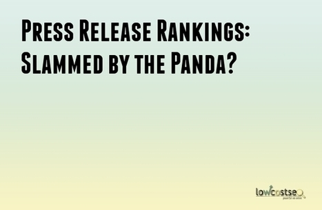 Press Release Rankings: Slammed by the Panda? | LOWCOSTSEO.CO | Scoop.it