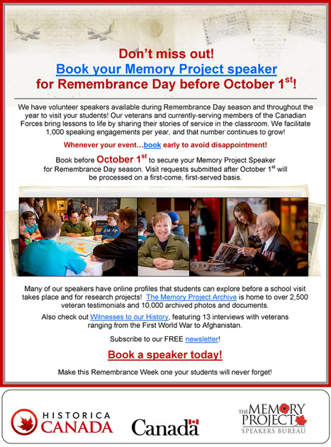 HDI - Memory Project Speakers Bureau | HCS Learning Commons Newsletter | Scoop.it