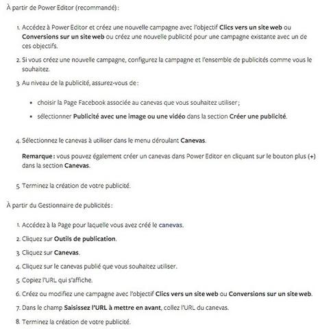 Comment Créer une Annonce Facebook avec un Canevas? | Emarketinglicious | Check ! | Scoop.it